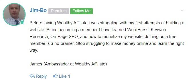 success testimonial afetr earning money online.